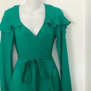 Asos Green Cross Dress Maxi Size 6 NWT